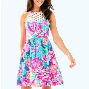 f876d1792beef1 Lilly Pulitzer Dresses - Lilly Pulitzer Beckon Blue Jungle Utopia Dress